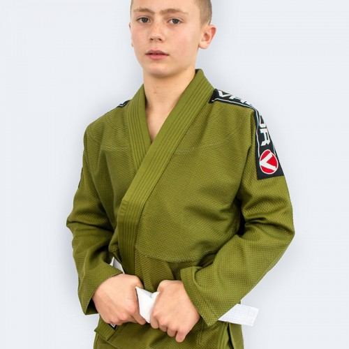 Image of Valor Kids Bravura BJJ GI Green